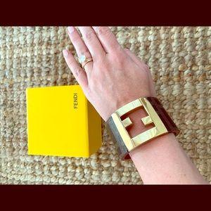 Fendi Jewelry - 100% authentic Fendi Zucca cuff bracelet.